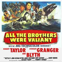 All the Brothers Were Valiant - 40 x 40 - Movie Poster - Style A