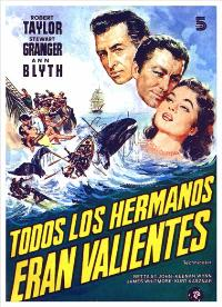 All the Brothers Were Valiant - 11 x 17 Movie Poster - Spanish Style B