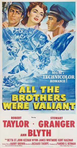 All the Brothers Were Valiant - 20 x 40 Movie Poster - Style A