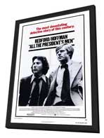 All the President's Men - 27 x 40 Movie Poster - Style A - in Deluxe Wood Frame