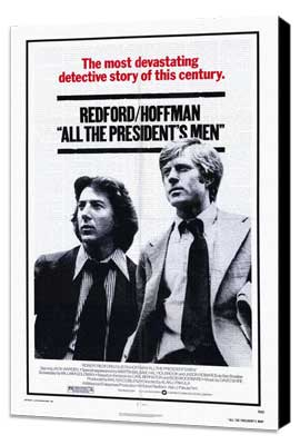 All the President's Men - 27 x 40 Movie Poster - Style A - Museum Wrapped Canvas