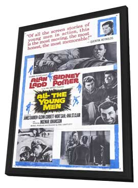 All the Young Men - 11 x 17 Movie Poster - Style A - in Deluxe Wood Frame