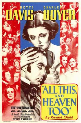 All This and Heaven Too - 11 x 17 Movie Poster - Style A
