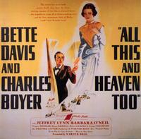 All This and Heaven Too - 11 x 17 Movie Poster - Style B