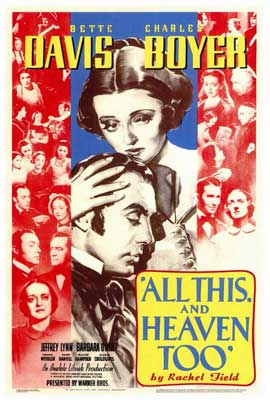 All This and Heaven Too - 27 x 40 Movie Poster - Style A