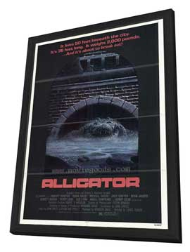Alligator - 27 x 40 Movie Poster - Style A - in Deluxe Wood Frame
