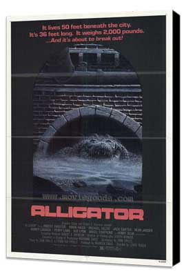 Alligator - 27 x 40 Movie Poster - Style A - Museum Wrapped Canvas