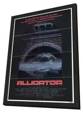 Alligator - 11 x 17 Movie Poster - Style A - in Deluxe Wood Frame