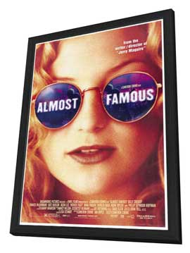 Almost Famous - 27 x 40 Movie Poster - Style A - in Deluxe Wood Frame