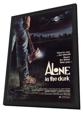Alone in the Dark - 27 x 40 Movie Poster - Style A - in Deluxe Wood Frame