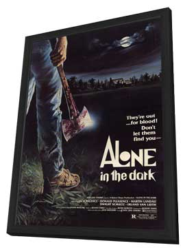 Alone in the Dark - 11 x 17 Movie Poster - Style A - in Deluxe Wood Frame