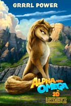Alpha and Omega - 27 x 40 Movie Poster - Style C