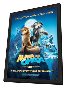 Alpha and Omega - 11 x 17 Movie Poster - Style E - in Deluxe Wood Frame