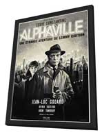 Alphaville - 11 x 17 Movie Poster - French Style A - in Deluxe Wood Frame