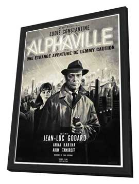 Alphaville - 27 x 40 Movie Poster - French Style A - in Deluxe Wood Frame