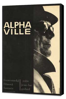 Alphaville - 27 x 40 Movie Poster - Style A - Museum Wrapped Canvas