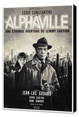 Alphaville - 27 x 40 Movie Poster - French Style A - Museum Wrapped Canvas