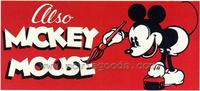 Also Mickey Mouse - 43 x 62 Movie Poster - Bus Shelter Style A
