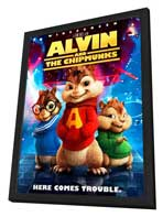 Alvin and the Chipmunks - 27 x 40 Movie Poster - Style E - in Deluxe Wood Frame