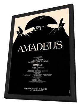 Amadeus (Broadway) - 27 x 40 Movie Poster - Style A - in Deluxe Wood Frame