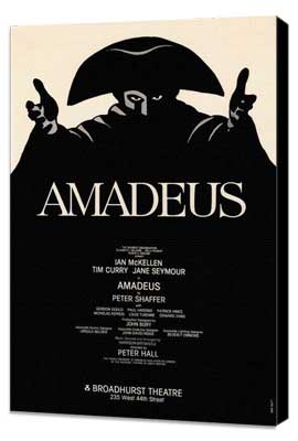 Amadeus (Broadway) - 27 x 40 Movie Poster - Style A - Museum Wrapped Canvas