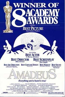 Amadeus - 27 x 40 Movie Poster - Style D