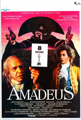Amadeus - 27 x 40 Movie Poster - Belgian Style A