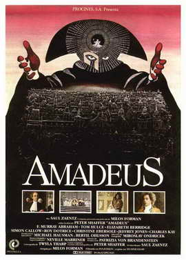 Amadeus - 27 x 40 Movie Poster - Spanish Style A