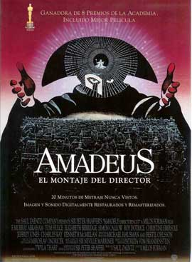 Amadeus - 27 x 40 Movie Poster - Spanish Style B
