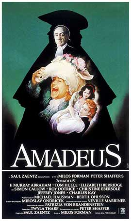 Amadeus - 27 x 40 Movie Poster - Italian Style B