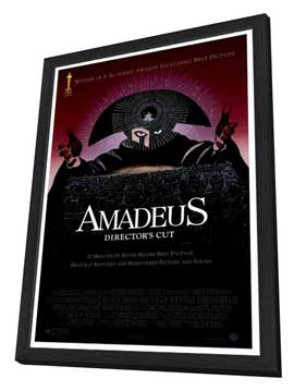 Amadeus - 27 x 40 Movie Poster - Style A - in Deluxe Wood Frame