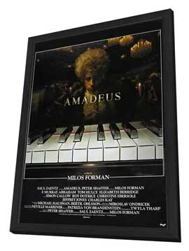 Amadeus - 27 x 40 Movie Poster - French Style A - in Deluxe Wood Frame