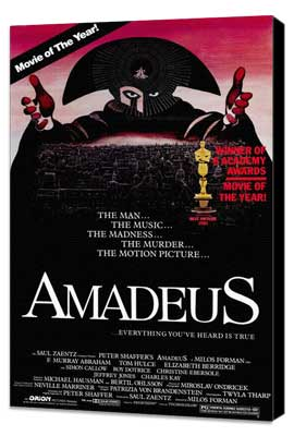 Amadeus - 27 x 40 Movie Poster - Style B - Museum Wrapped Canvas