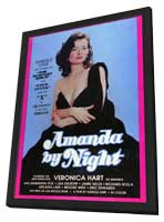 Amanda By Night - 11 x 17 Movie Poster - Style A - in Deluxe Wood Frame