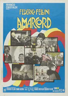 Amarcord - 11 x 17 Movie Poster - Italian Style B