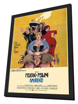 Amarcord - 27 x 40 Movie Poster - Style B - in Deluxe Wood Frame