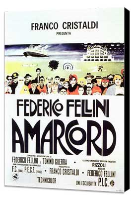 Amarcord - 11 x 17 Movie Poster - Style E - Museum Wrapped Canvas
