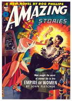 Amazing Stories (Pulp) - 11 x 17 Retro Book Cover Poster