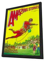 Amazing Stories (Pulp) - 11 x 17 Pulp Poster - Style C - in Deluxe Wood Frame