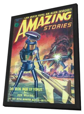 Amazing Stories (Pulp) - 11 x 17 Pulp Poster - Style B - in Deluxe Wood Frame
