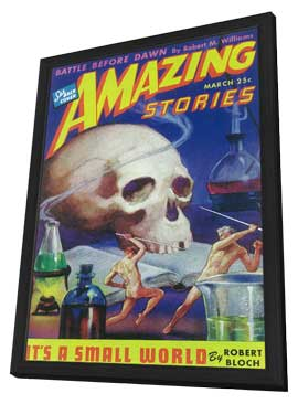Amazing Stories (Pulp) - 11 x 17 Pulp Poster - Style J - in Deluxe Wood Frame