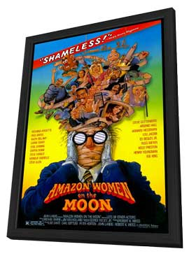 Amazon Women on the Moon - 11 x 17 Movie Poster - Style A - in Deluxe Wood Frame