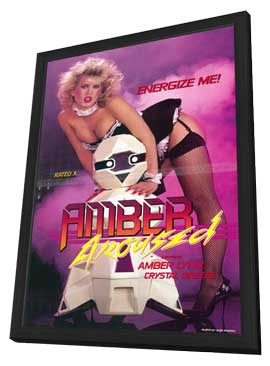 Amber Aroused - 11 x 17 Movie Poster - Style A - in Deluxe Wood Frame