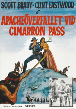 Ambush at Cimarron Pass - 11 x 17 Movie Poster - Swedish Style A