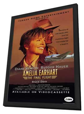 Amelia Earhart:  The Final Flight - 11 x 17 Movie Poster - Style A - in Deluxe Wood Frame
