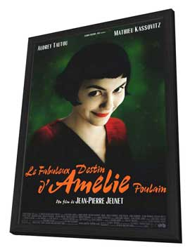 Amelie - 11 x 17 Movie Poster - Style A - in Deluxe Wood Frame
