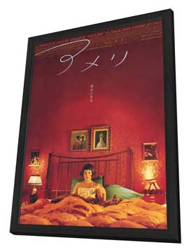 Amelie - 11 x 17 Poster - Foreign - Style B - in Deluxe Wood Frame