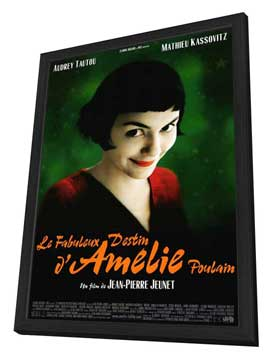 Amelie - 27 x 40 Movie Poster - Style A - in Deluxe Wood Frame