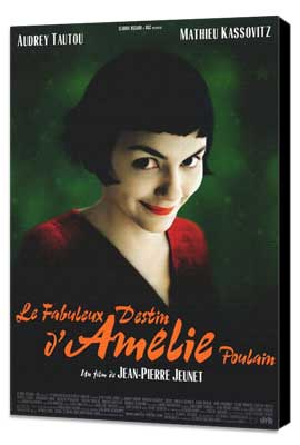 Amelie - 11 x 17 Movie Poster - Style A - Museum Wrapped Canvas