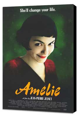 Amelie - 11 x 17 Movie Poster - Style C - Museum Wrapped Canvas